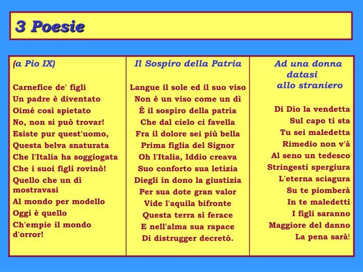 3 Poesie