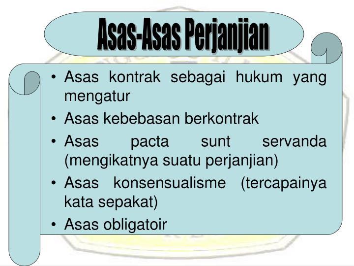 Asas-Asas Perjanjian