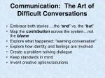 communication the art of difficult conversations1