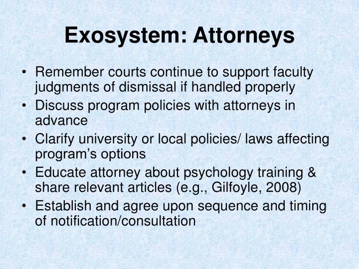 Exosystem: Attorneys