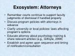 exosystem attorneys