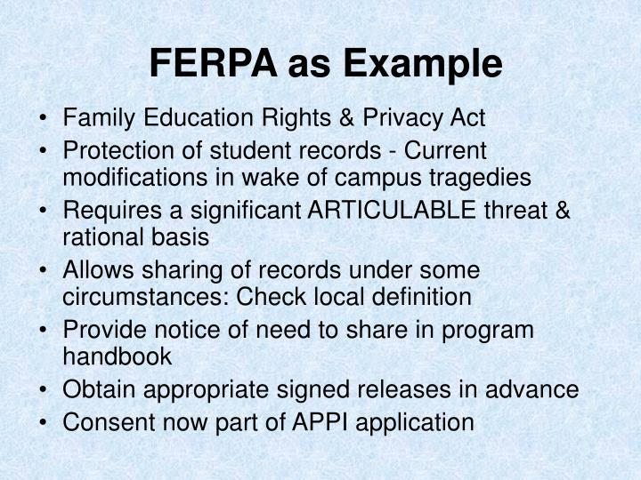 FERPA as Example