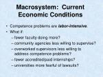 macrosystem current economic conditions