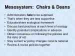 mesosystem chairs deans