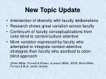 new topic update