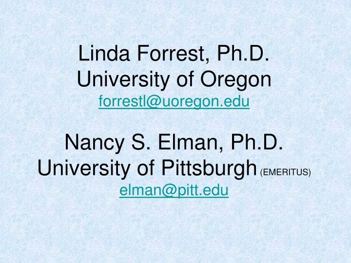 Linda Forrest, Ph.D.