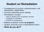student on remediation