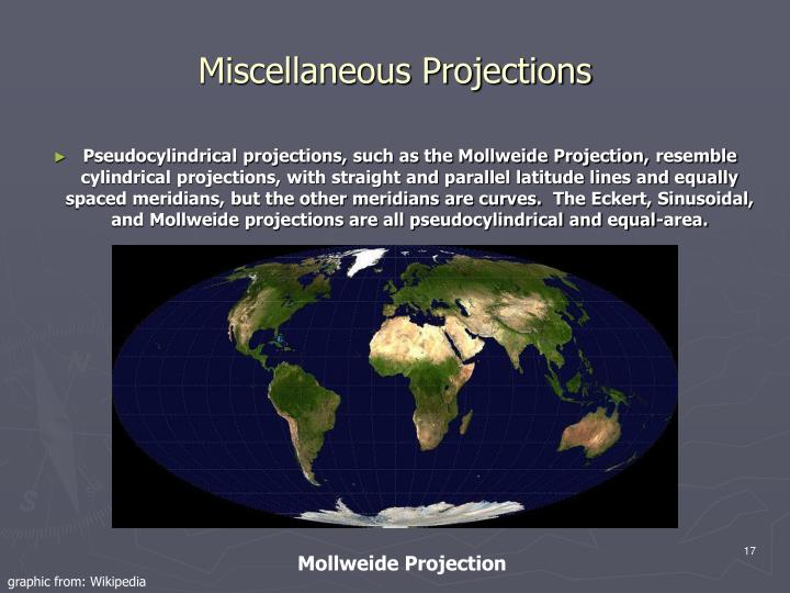 Miscellaneous Projections