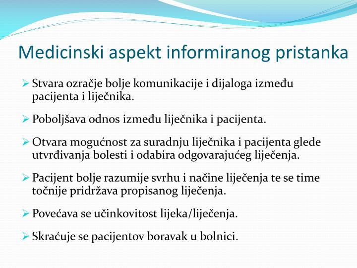 Medicinski aspekt informiranog pristanka