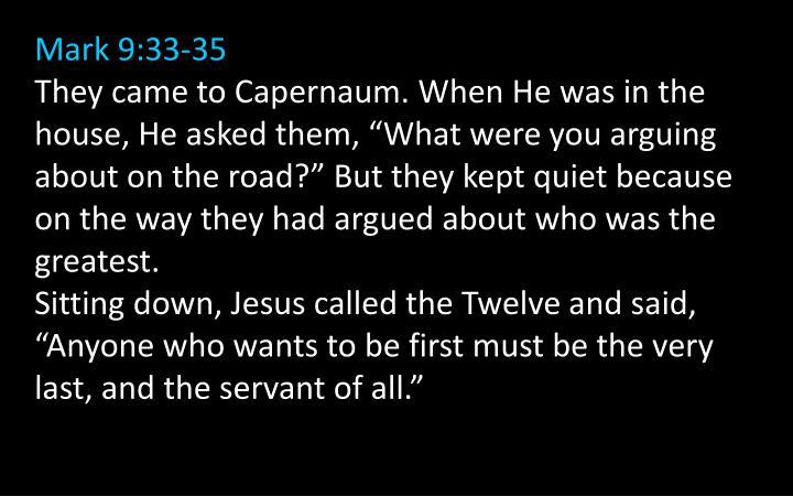 Mark 9:33-35