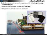 adjusting mat depth1