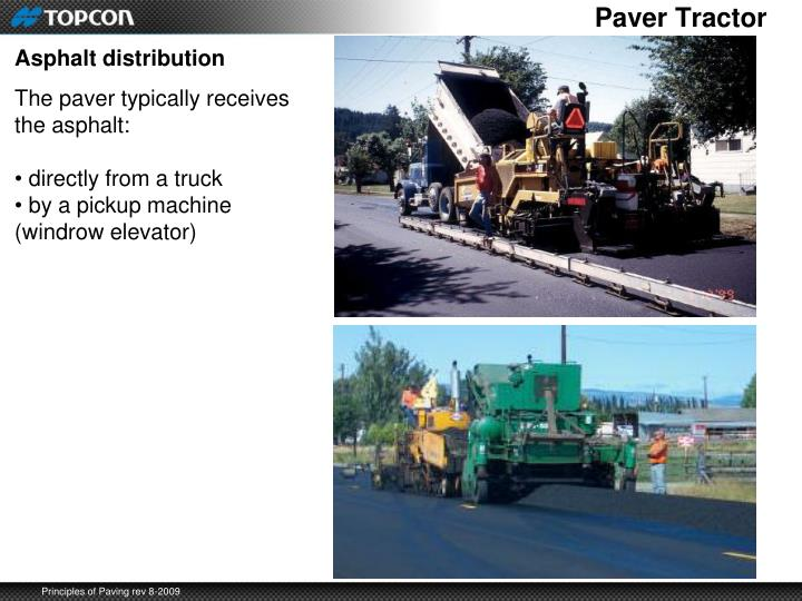 Paver Tractor