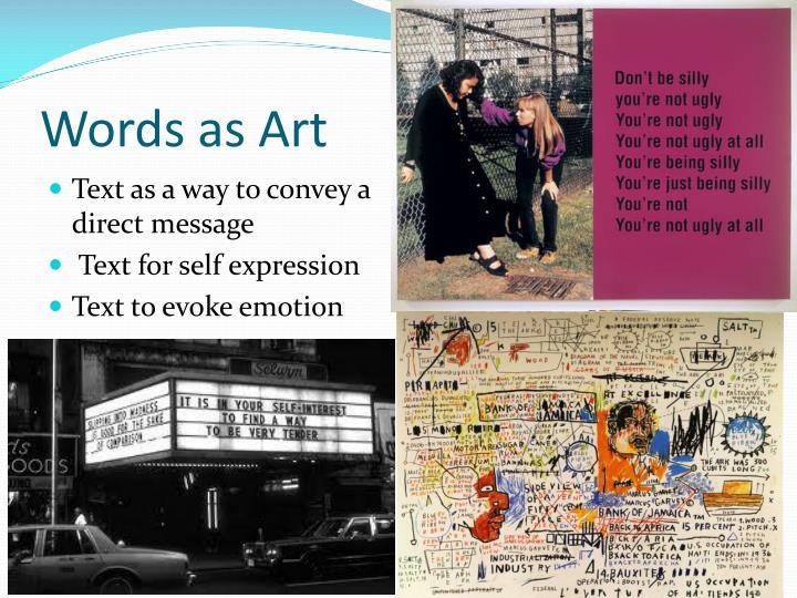 Words as Art