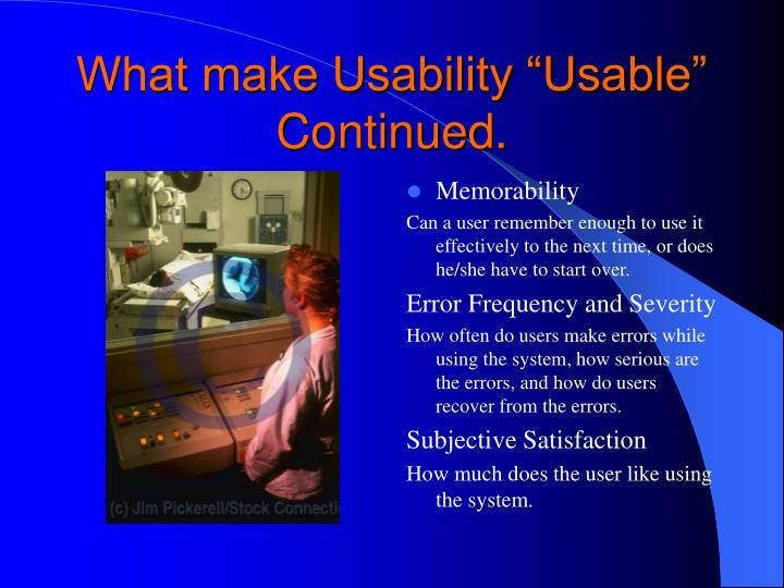 "What make Usability ""Usable"" Continued."