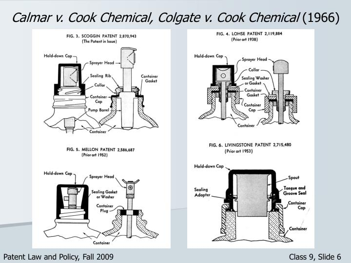 Calmar v. Cook Chemical, Colgate v. Cook Chemical
