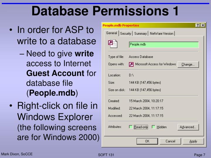 Database Permissions 1