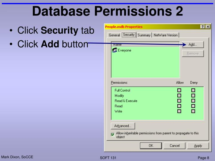 Database Permissions 2