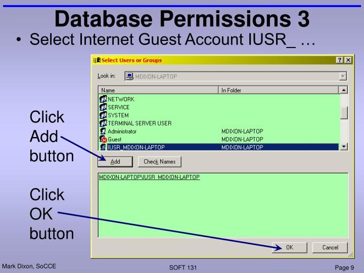 Database Permissions 3