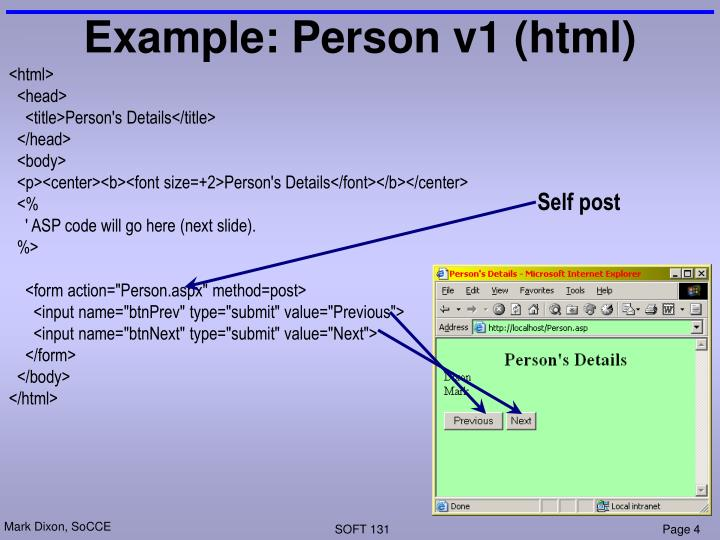 Example: Person v1 (html)