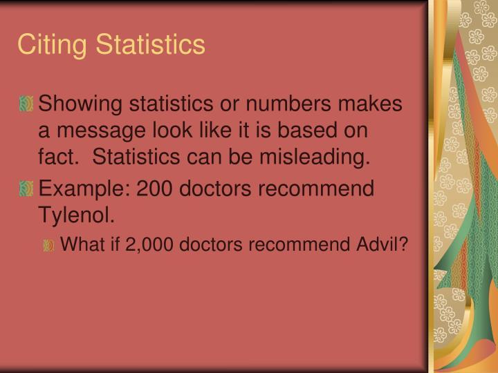 Citing Statistics