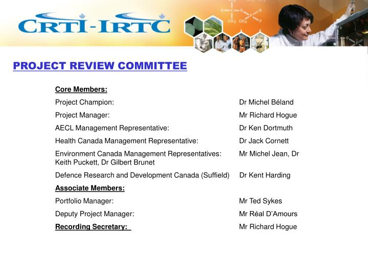 Project review committee