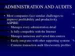 administration and audits