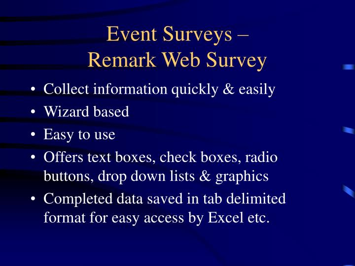 Event Surveys –