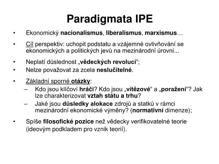 Paradigmata IPE