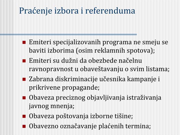 Praćenje izbora i referenduma