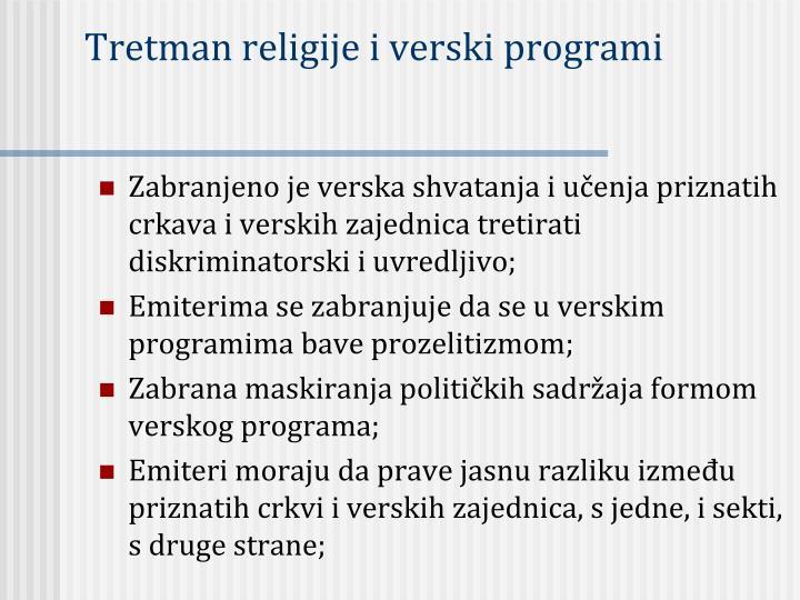 Tretman religije i verski programi