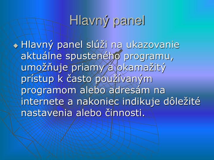 Hlavný panel
