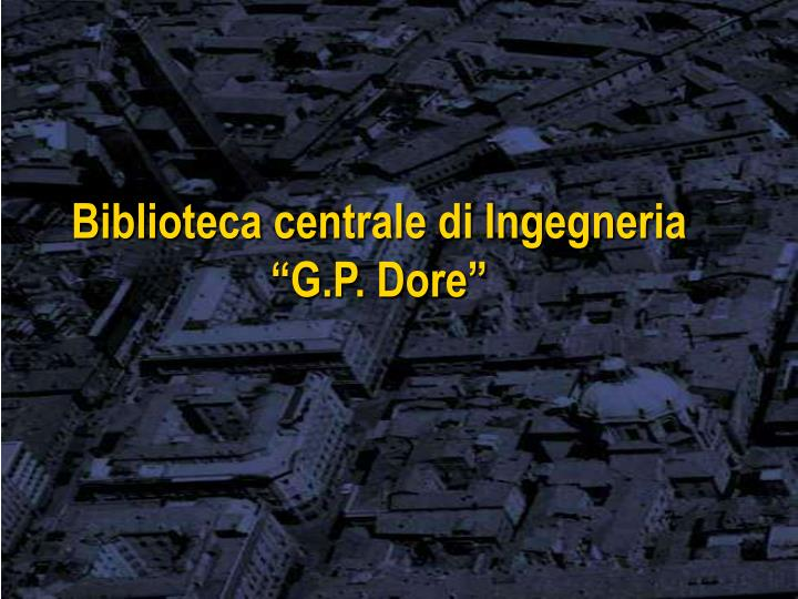 Biblioteca centrale di Ingegneria