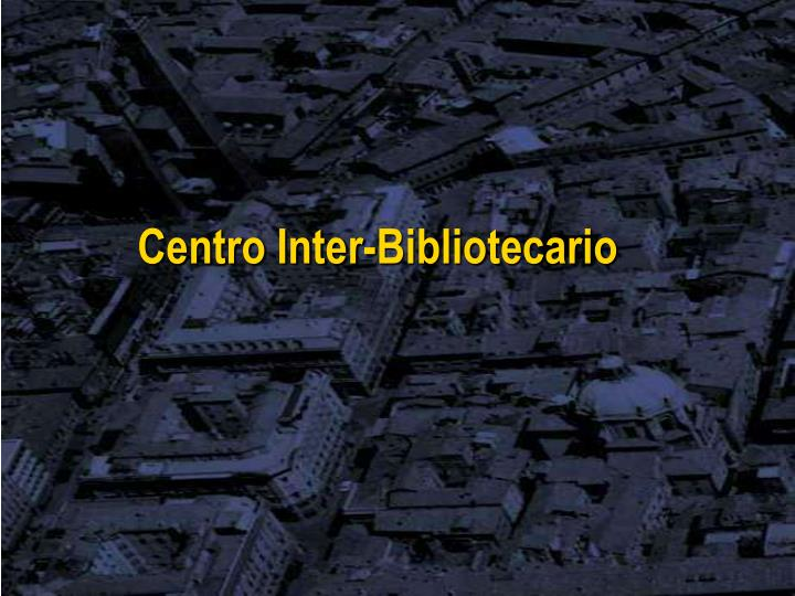 Centro Inter-Bibliotecario