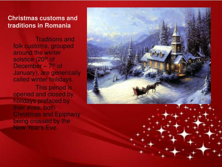 Christmas customs and traditions in Romania