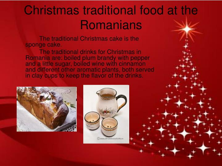 Christmas traditional food at the Romanians