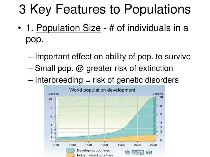 3 Key Features to Populations