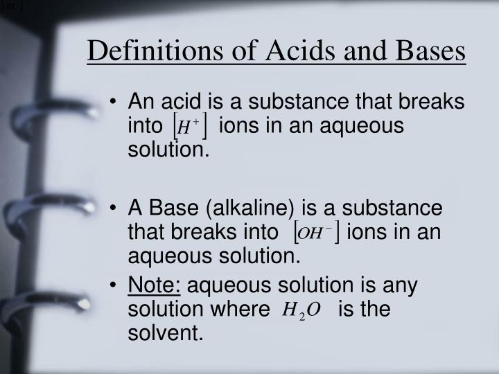 Definitions of Acids and Bases