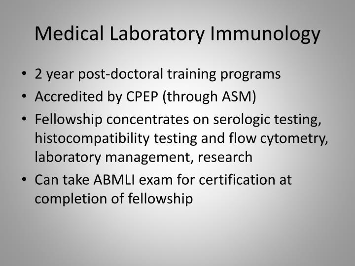 Medical Laboratory Immunology