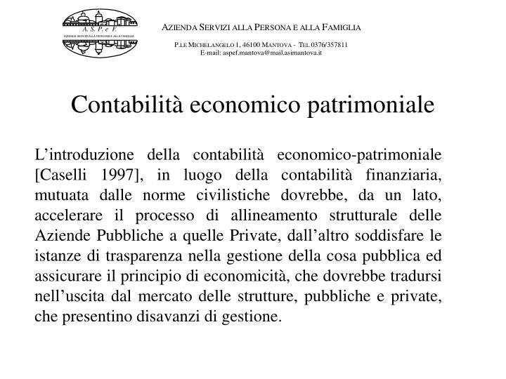 Contabilità economico patrimoniale
