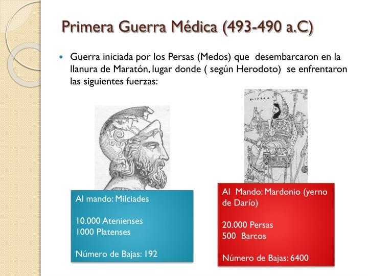 Primera Guerra Médica (493-490 a.C)