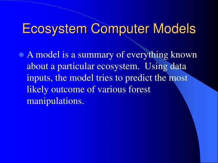Ecosystem Computer Models