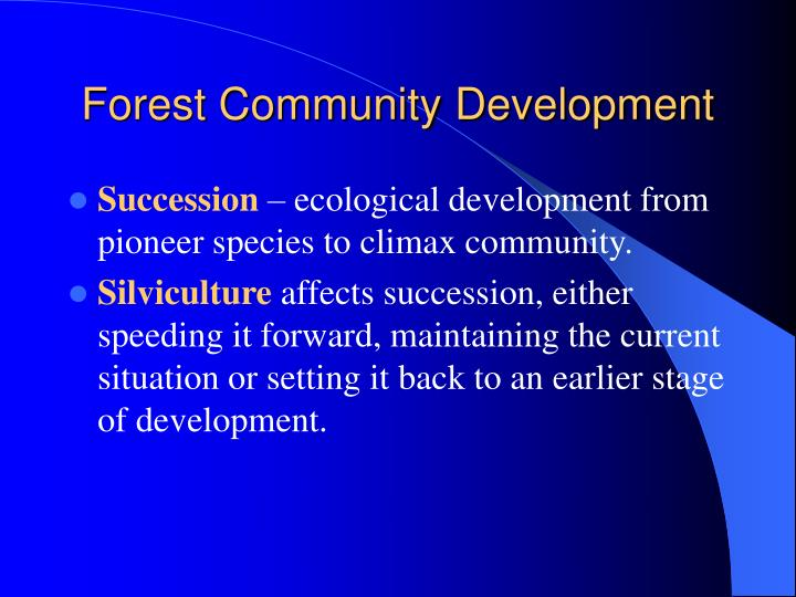 Forest community development1
