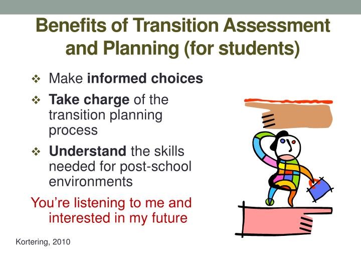 Benefits of Transition Assessment and Planning (for students)