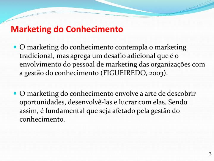 Marketing do conhecimento