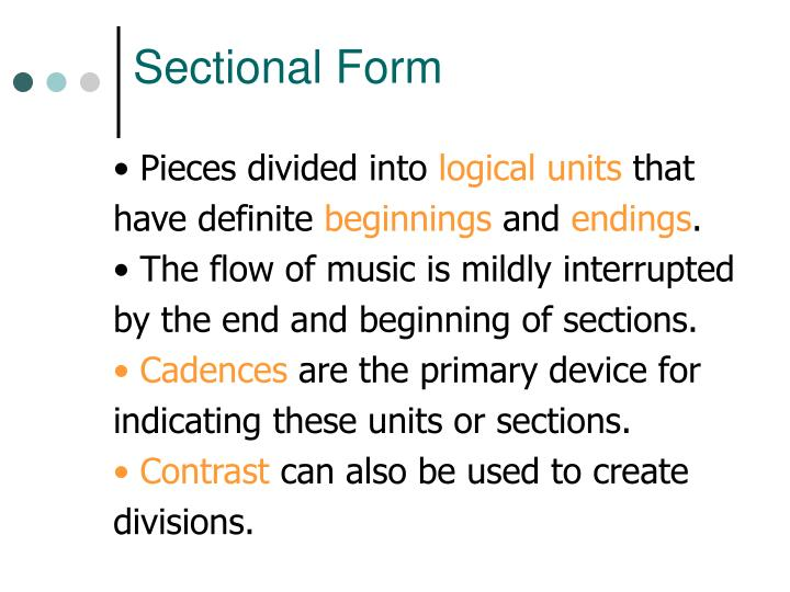 Sectional Form