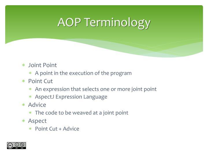 AOP Terminology