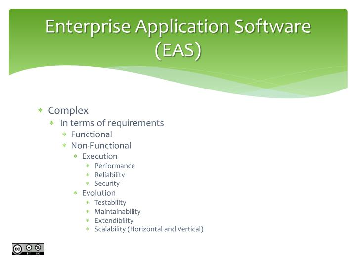 Enterprise Application Software (EAS)