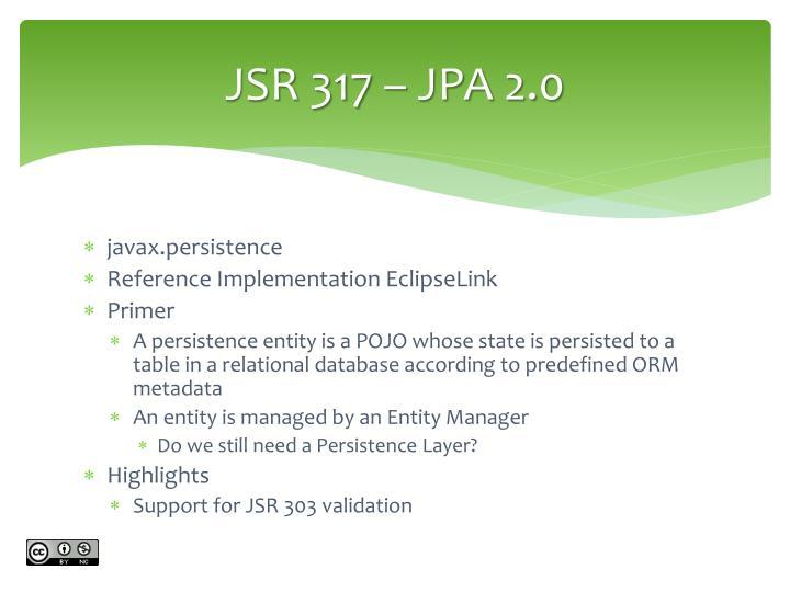 JSR 317 – JPA 2.0