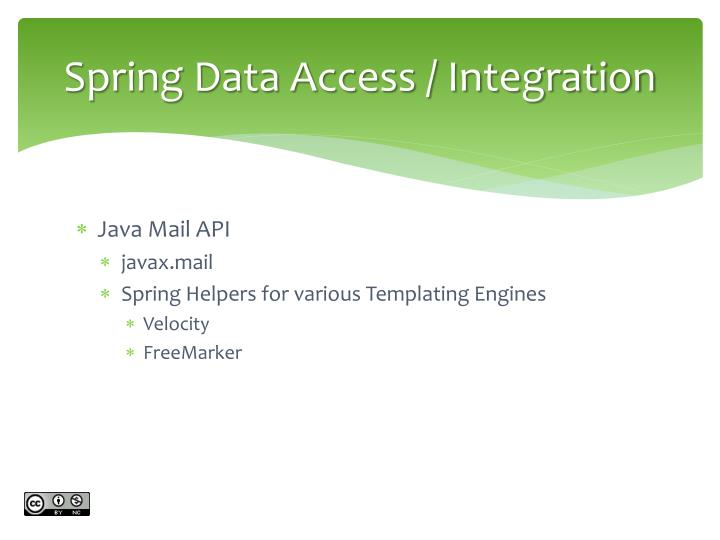 Spring Data Access / Integration