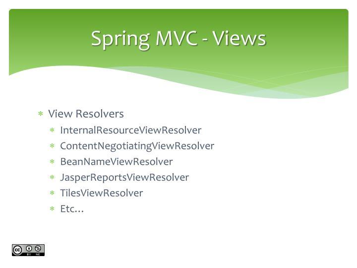 Spring MVC - Views